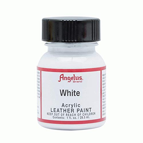Angelus Acrylic Leather Paint, White, 1 oz