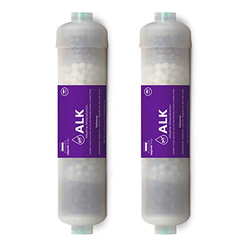 Express Water – 2 Pack Alkaline Water Filter Replacement – Mineral, Antioxidant, pH+ – 10 Inch – Under Sink and Reverse Osmosis System