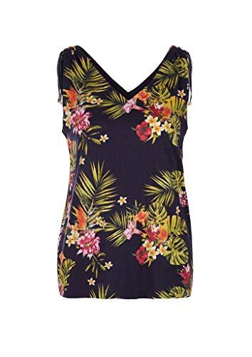 s.Oliver Damen 120.11.899.12.102.2037136 T-Shirt, Navy floral Print, 46