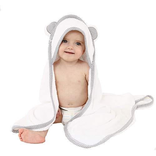 Toalla con Capucha para Bebés Hecha de Bambú Orgánico Toallas de Baño Suaves y con Capucha para Bebés y Niños Pequeños Toalla Grande para Bebés Ultra Suave Hipoalergénica de Bambú