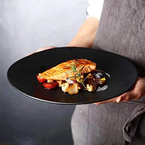 WYZXR Plato de cerámica de 11 pulgadas con forma de platos para el hogar, cocina, ensalada, fruta occidental (815 g)