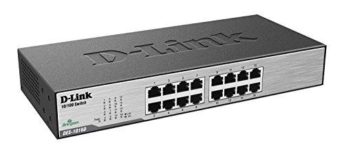 D-Link DES-1016D Switch 16 ports Ethernet Metallique 10/100mbps - Idéal Partage de Connexion et Mise en Réseau Small/Home Office