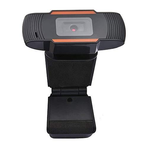 Omenluck - Cámara web USB HD 480P con micrófono para ordenador portátil de escritorio, cámara web para vivir arriba y abajo 30 grados