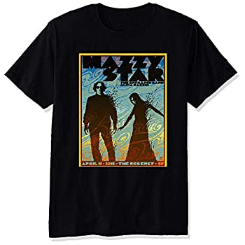 YULUYYY Men s Mazzy Star Poster Fashion Relaxed T-Shirt Tee Black Large