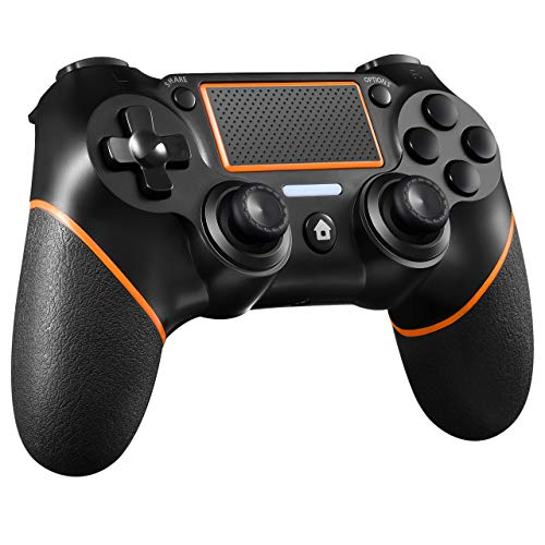 RDA Wireless Controller Compatible with PS4, Wireless Gamepad for PC (7/8/8.1/10) with Audio Function, Mini LED Indicator and USB Cable.