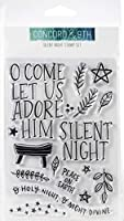 """Concord & 9th Clear Stamps 4""""X6""""-Silent Night"""