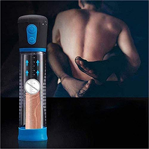 Cheng Multi-Suctions and Vibr-ation Enlarge Tools Male Vacuum Pump Pēnǐs Extension Enlarger Suit for Strong Male-Blue