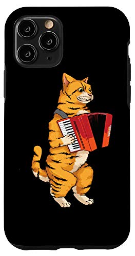 iPhone 11 Pro Funny Cat Playing Accordion | Cool Musician Harmonium Gift Case