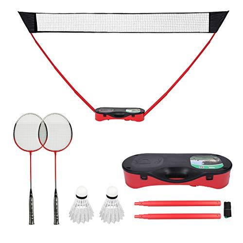 FBSPORT Tragbares Badminton-Set,Tennisnetz,Badminton und Volleyballnetz mit freistehender Basis in Sekundenschnelle auf jedem Untergrund aufstellbar,3 in 1 Netze-Set - Mobiles Volleyball