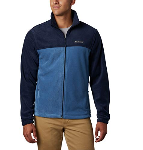 Columbia Men's Steens Mountain 2.0 Full Zip Fleece Jacket, Collegiate Navy/Scout Blue, Medium