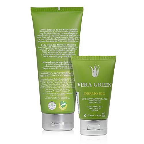 Vera Green Dermo Bio Crema de Aloe Vera Hidratante 100% Ecológica Corporal Ultrarreparadora - 200 ml