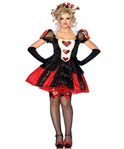 LaLaAreal Halloween Reina Roja Reina Infierno Reina Diablo Disfraz de Princesa Vampiro Mascarada Cosplay