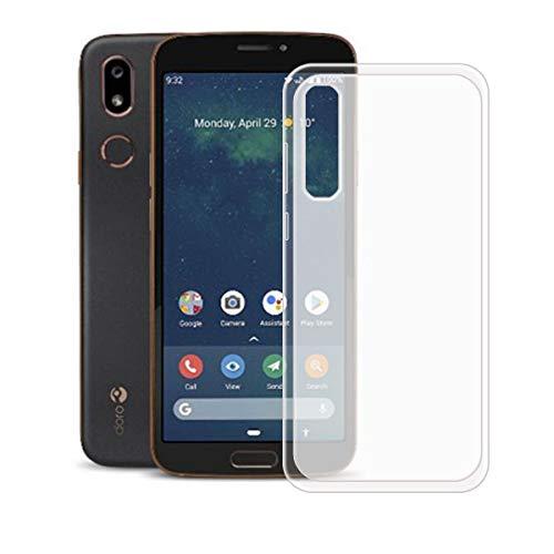 DQG Anti-Fall Schutzhülle für Doro 8080 Hülle, Weiche Flexibel Handytasche Semi-Transparent TPU Handyhülle Silikon Tasche Schale Hülle Cover für Doro 8080 (5.7