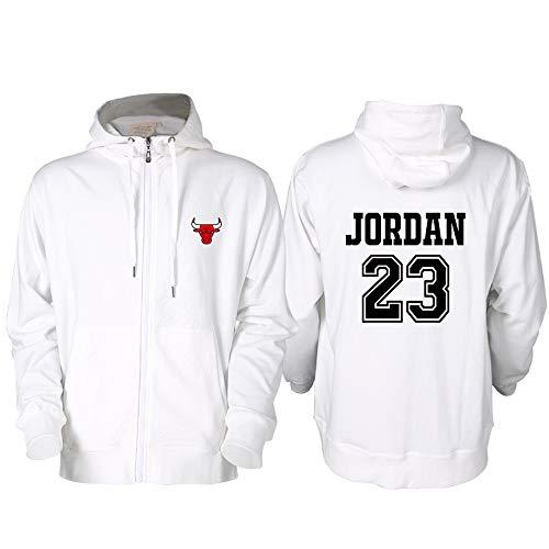 HEJX Chicago Bulls 23 Jordan Baloncesto Sudadera con Capucha Suéter Cárdigan Hombres 7-S