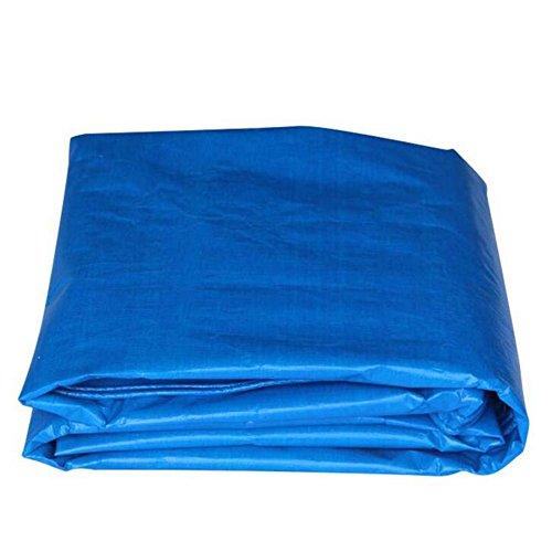 MEIDUO Bâches Bâche en Plastique de Parasol tissé par PE Bleu Tissu imperméable et imperméable de Tente de Protection Solaire 160g / m2-0.28mm pour l'extérieur (Couleur : Bleu, Taille : 4 * 5m)