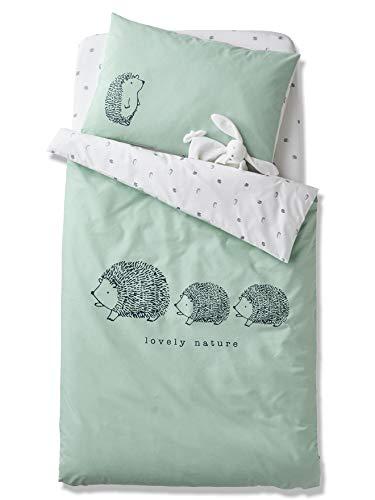 Vertbaudet Bio-Kollektion: Baby Wende-Bettbezug,Lovely Nature grün 100X120