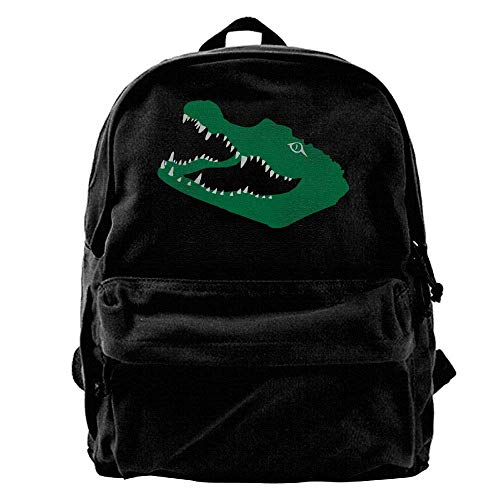 hengshiqi Rucksack Schultasche,Backpack, Crocodile Alligator Croc Gator Kaiman Outdoor Backpack School Bags Travel Backpack Canvas Christmas Backpack Unisex Boys and Girls