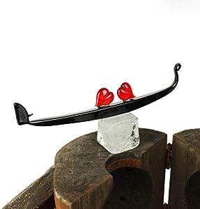 Gondola Hearts Love - Venecia - Cristal original de Murano OMG