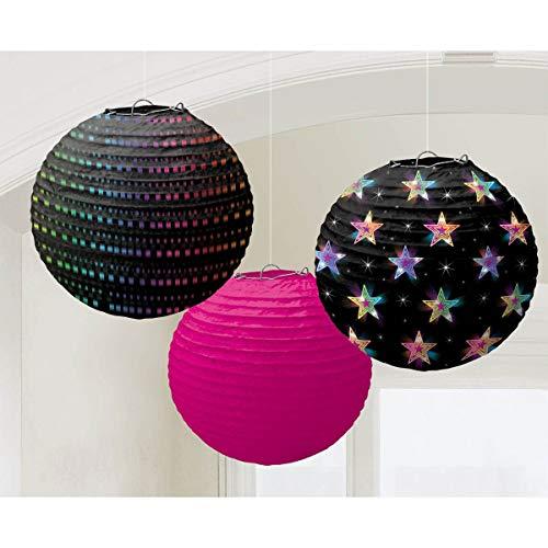 amscan 241222 24 cm ANNÉES 70 Disco Fever Papier Lanternes