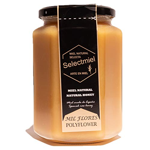 Miel Natural de Mil Flores en Tarro de 1 Kilo - Miel Pura Procesada de Manera Artesanal - De la Sierra de Salamanca - Fabricante Selectmiel - What Jamón?