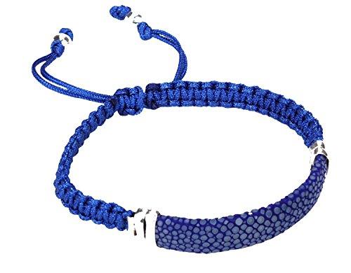 Felex Rochenleder Armband large L blau