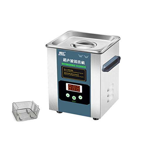 BBGS Profesional Máquina Limpiadora Ultrasónica de Piezas 2L con Temporizador Digital para Placa de Circuito de Cristal de Monedas de Reloj de Joyería (Size : 2L)