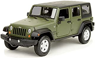 Maisto 2015 Jeep Wrangler Unlimited 1/24 Scale Diecast Vehicle Green
