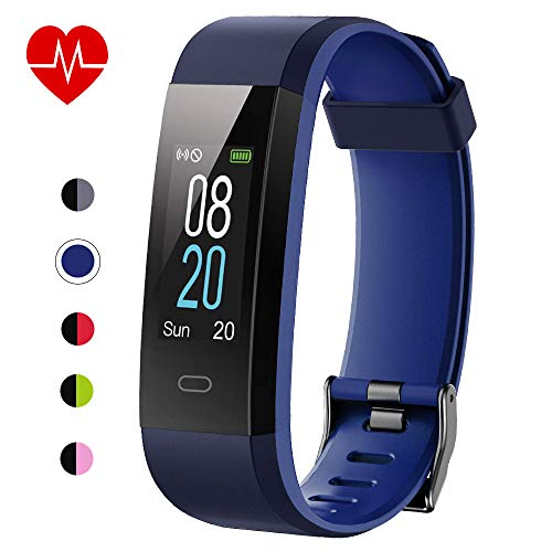 Willful Fitness Tracker with Heart Rate Monitor IP68 Waterproof, Activity Tracker (14 Modes) Pedometer with Step Counter Sleep Monitor,Color Screen,Fitness Watch for Women Men (Blue)