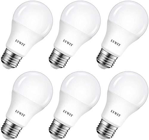 Preisvergleich Produktbild LVWIT LED E27 Birne 8.5W ersetzt 60W Kaltweiß 6500K,  ultrahell 806 lm,  matte LED Lampe,  nicht dimmbar (6er Pack)