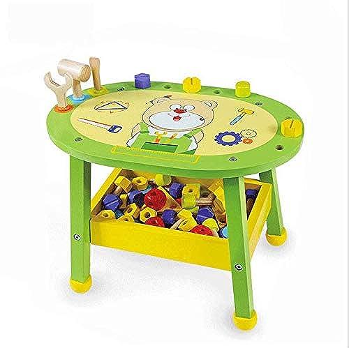 BO LU Kinder Simulation Holz Repair Tool Kit Boy Puzzle Spielhaus Mutter Bausteine  pielzeug Montiert