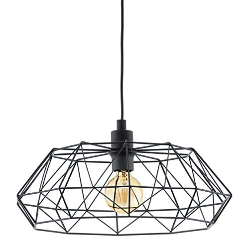 Lampe Suspendue Culot E27 Noir 'Carlton 2'