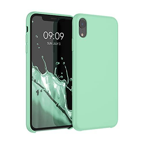kwmobile Carcasa Compatible con Apple iPhone XR - Funda de Silicona para móvil - Cover Trasero en Verde Menta