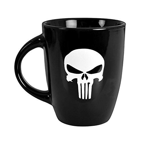 Marvel Punisher Tasse Skull Logo 250ml Elbenwald Keramik schwarz