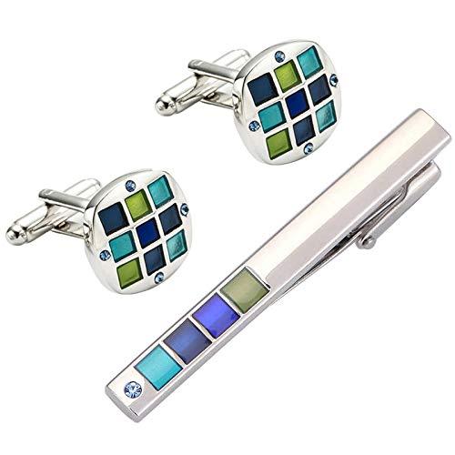 NObrand Herren Business Krawattenklammer hochwertige Emaille Anzug Manschette Umweltschutz Kupfer Hochzeit Krawattenklammer 56mm