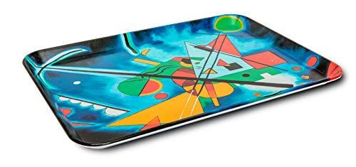 Garnet Kandinsky rettangolare Vassoio in plastica infrangibile, rettangolare con grafica Kandinsky - Made in Italy 100% - Dimensioni: 35 cm x 24 cm