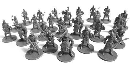 DND Minis 25 Fantasy Miniaturen für Tisch/Dungeons und Dragons Rollenspiele - Bulk Minis unlackiert - Guards Figuren Starter Set - Kompatibel mit DND