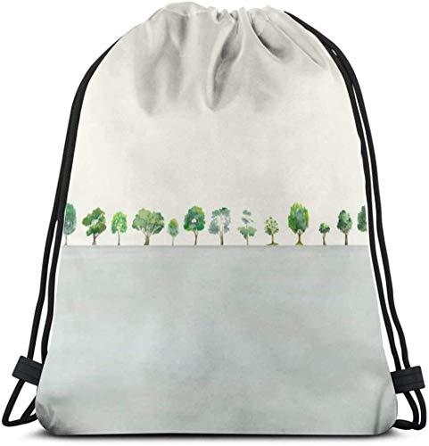 IUBBKI una fila de árboles bolsa de gimnasio mochila de viaje con...