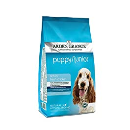 Arden Grange puppy junior rich in fresh chicken dog food