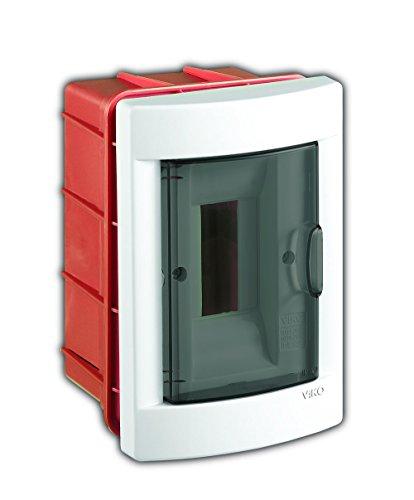 Armario de distribución C125VK-90918002, color blanco, rojo