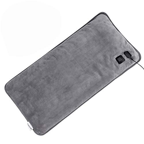 """Mieuxbuck Far Infrared Heating Pad for Pain Relief, Innovative Graphene Electric Heating Pads for Back Pain, 3 Heat Settings with Auto Shut Off Large Size (12"""" x 24"""")"""