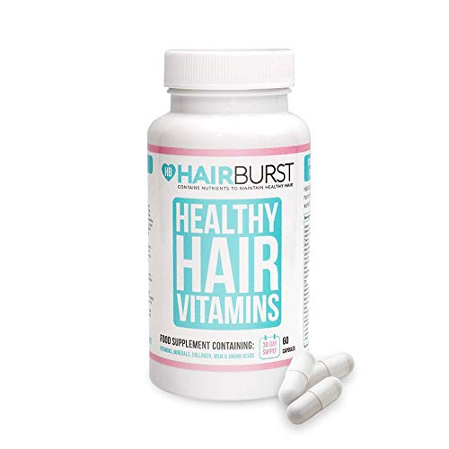 Healthy Hair Growth Vitamins - Biotin Hair Growth Supplement - 1 Month Supply - 60 Capsules - Hair Vitamins to Help You Grow Longer, Stronger Looking Hair - by Hairburst