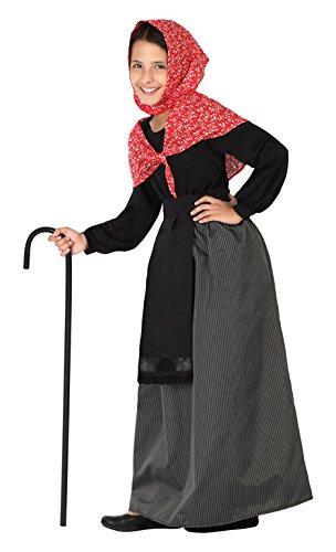 Atosa 26919 - Viejo señora, muchacha, tamaño 128, negro/rojo ...