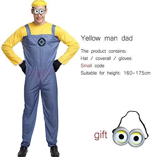 WSJYP Disfraces De Rendimiento para Niños De Halloween Adulto Masculino COS Dibujos Animados Anime GRU Amarillo Ropa De Hombre,YellowDad-M