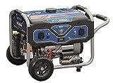 HYUNDAI Benzin Generator BG55052, Notstromaggregat mit 7PS Motor und 3.0kW max. Leistung, Handstart und E-Start, Stromerzeuger für Baustellen mit 2 x 230V Anschlüssen, Stromgenerator, Stromaggregat