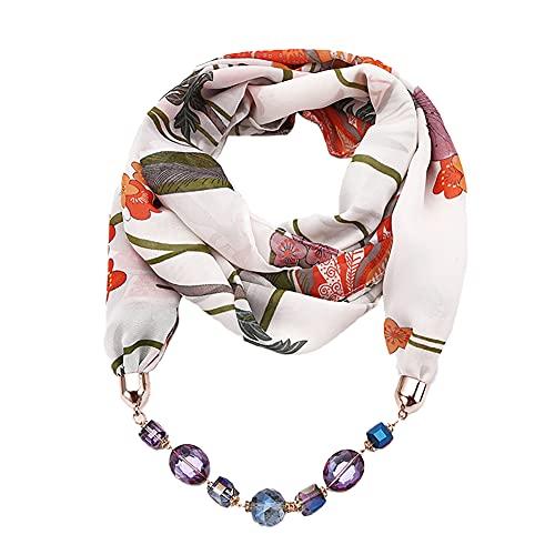 Gespout Collar de Dama Bufanda de Chifón con Estampado de Gasa Collar Colgante de Mujer Bufanda Accesorios de Vestir Para Cualquier Temporada Collar Ajustable Verde