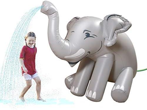 GoFloats Giant Inflatable Elephant Party Sprinkler 5 Feet Tall Yard Sprinkler for Kids Summer product image
