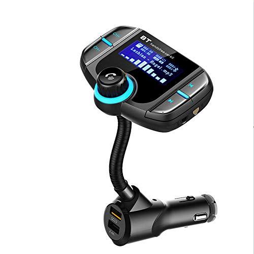 WZhen Bt70 Coche Transmisor FM Reproductor Bluetooth Reproductor De Apoyo TF Tarjeta con Qc3.0 Cargador Rápido