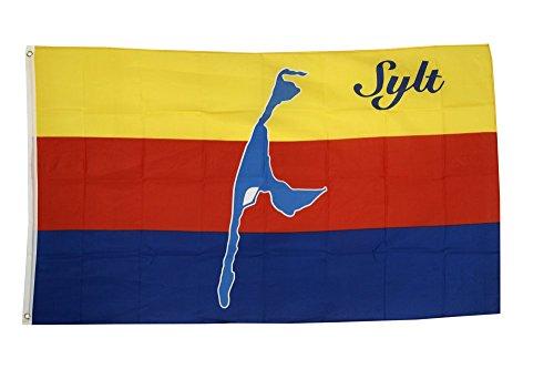 Fahne / Flagge Deutschland Stadt Sylt + gratis Sticker, Flaggenfritze®
