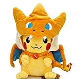 Anime Plushies Toy Removable Fire-Breathing Dragon Charizard Hat Cute Plushies Interesting Kawaii Plush for Unisex