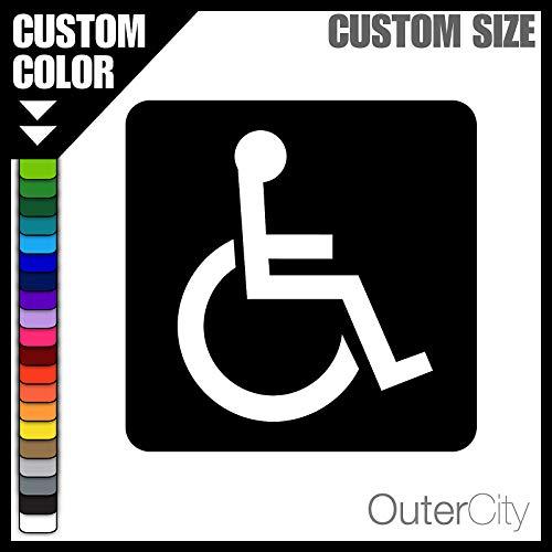 SUPERSTICKI Rollstuhl Rollstuhlfahrer Symbol Icon Piktogramm 12cm Aufkleber,Autoaufkleber,Sticker,Decal,Wandtattoo, aus Hochleistungsfolie,UV&waschanlagenfest,
